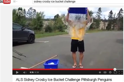 20140813hoCrosbyALS02-1 Sidney Crosby participates in the ALS Ice Bucket Challenge on YouTube