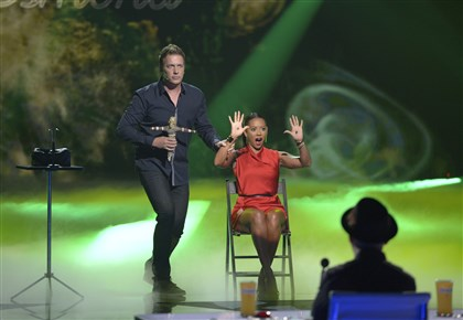 "20140813hdRealityMag (1)-2 Mike Super and Mel B during ""America's Got Talent."""
