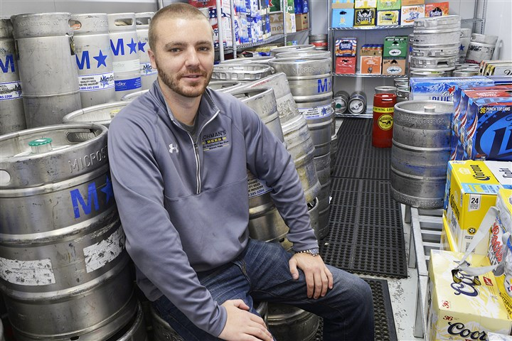 20140813lrlohmanbeer03-2 Shane Lohman started Lohman's Beer in the Wexford section of Franklin Park three years ago.