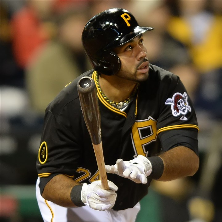 pedro0824 Pirates manager Clint Hurdle elected to put Pedro Alvarez at his new position Saturday night in a big game against Milwaukee.