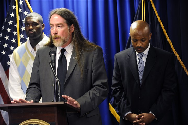 DavidKennedy3-2 Criminology professor David Kennedy attends the official launch of the Pittsburgh Initiative to Reduce Crime in 2010 at the federal courthouse Downtown.