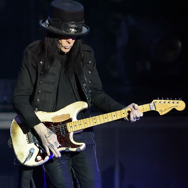 "20140813mfmotleymag03-6 Motley Crue guitarist Mick Mars opens with ""Saints of Los Angeles"" at First Niagara Pavilion."