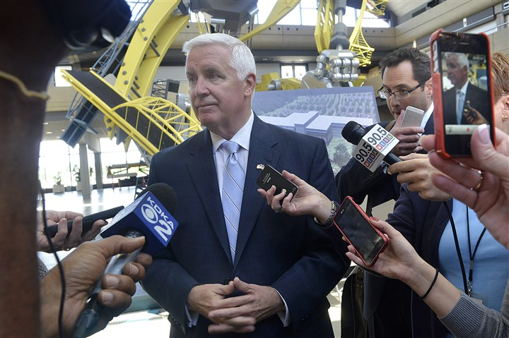 20140814lrcorbetttradelocal02-1 Gov. Tom Corbett said today he would consider filling the higher education adviser position if re-elected.