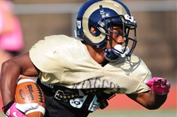 Ringgold running back Chacar Berry rushed for 1,392 yards on 168 carries last season to lead Class AAA.