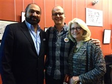 Franco Harris, Rob Rogers and Dana Franco.