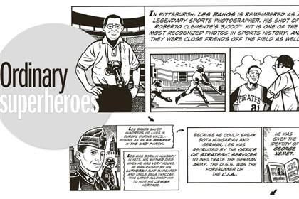 Chutz-Pow! Superheroes of the Holocaust For the full page, see PDF below.
