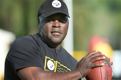 20140814pdSteelersSports10 New Steelers running backs coach James Saxon.