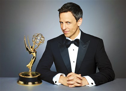 20140815hdEmmysMag (1) Seth Meyers, host of the 2014 Emmy Awards ceremony.