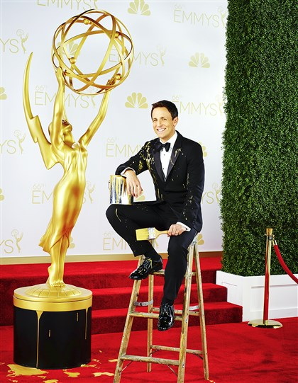 "20140815hdEmmysMag (2)-1 Seth Meyers is host of the ""Primetime Emmy Awards."""