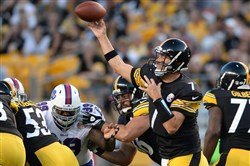 Quarterback Ben Roethlisberger and the Steelers will again play Buffalo during the preseason as they did in 2014, pictured above.