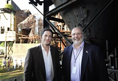 From left, David Conrad and August Carlino.