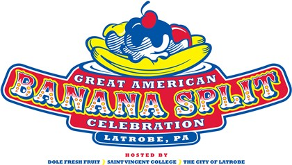 20140818hoBananaDfood-2 Logo for the Great American Banana Split Celebration in Latrobe.