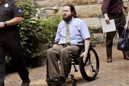 20140818lrjenkinslocal01 Officer Morgan Jenkins exits the Allegheny County Courthouse today shortly after James Hill was found guilty of shooting the officer, who was left paralyzed.