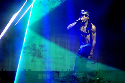 "20140817DARLilWaynePerformsLWVDLocal05-7 Rapper Lil Wayne performs Sunday at First Niagara Pavilion in a concert billed ""Lil Wayne vs. Drake."""