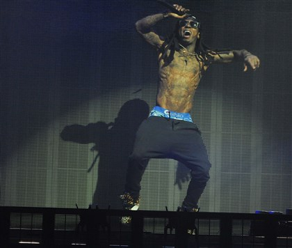 20140817DARLilWaynePerformsLWVDLocal01-4 Rapper Lil Wayne performs Sunday at First Niagara Pavilion in Burgettstown.