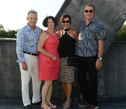 20140817jrSeen5-4 Harris and Janet Ferris, Carol Shriber and Chuck Snyder.