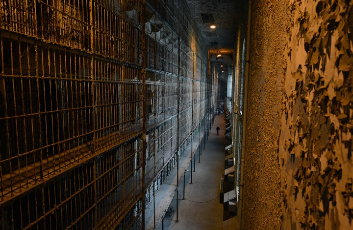 Ohio State Reformatory in Mansfield, Ohio The East Cell Block, which was six tiers high when the prison was operational.