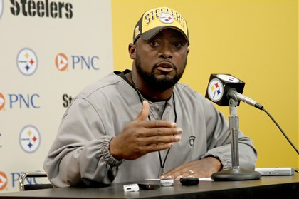 "20140819_TomlinNewsConf01 Mike Tomlin said it is approaching ""witching hour"" for players with injuries who are vying roster spots. ""That's the unfortunate reality."""