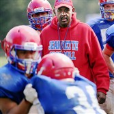 Coach Roy Hall led Jeannette into Class A last year in a transition from Class AA.