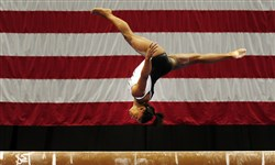 Simone Biles trains on the balance beam ahead of the 2014 P&G Gymnastic Championships Wednesday at Consol Energy Center.