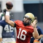Redshirt sophomore Chad Voytik brings versatility to the Pitt offense as a mobile quarterback.