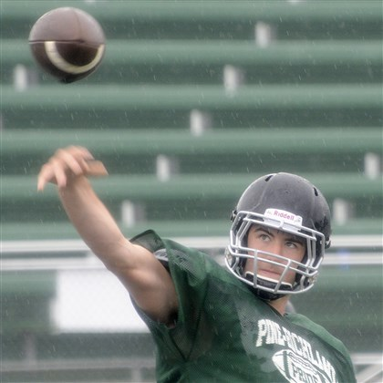20140811radP-RFootballSpts1.5.jpg A three-year starter, senior quarterback Ben DiNucci has already thrown for 3,350 yards and 26 touchdowns in his high school career, leading a Pine-Richland squad that has plenty of talented players returning.