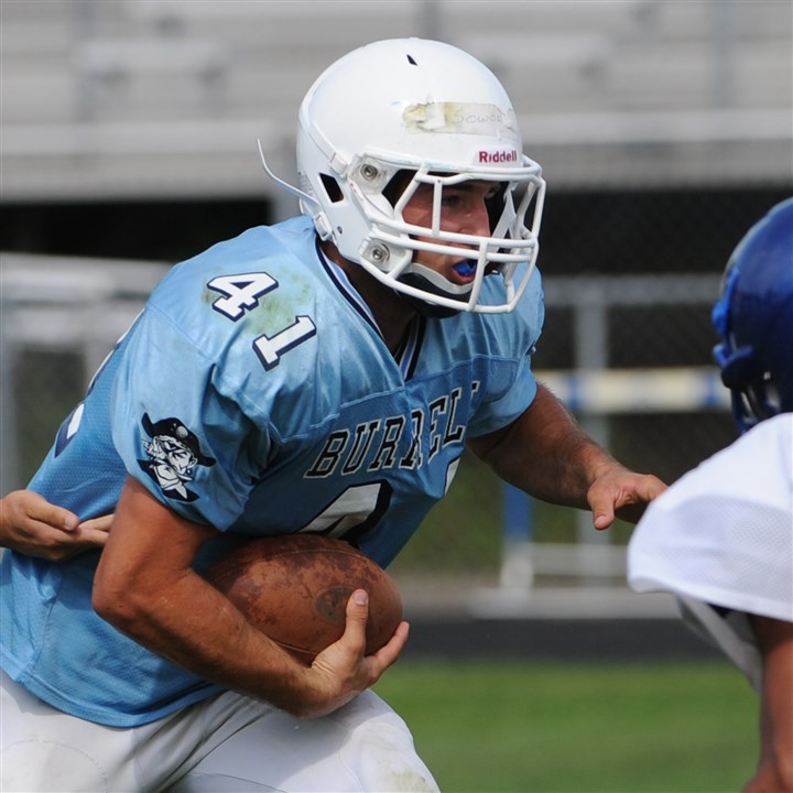 20140816lfFootballSports03 Burrell running back Ryan Sowol rushed for a team-high 1,150 yards and 12 touchdowns last season.