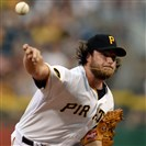 The Pirates' Gerrit Cole delivers a pitch in August against the Braves at PNC Park. Cole will start today's game at the Cardinals.