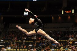 Emily Gaskins does her floor routine Thursday during the Junior Women's portion of the 2014 P&G Gymnastic Championships at Consol Energy Center.