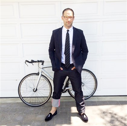 "Shadyside native Tom Smuts Shadyside native Tom Smuts, a writer on AMC's ""Mad Men,"" plans to ride his bike wearing this outfit to the Emmy Awards tonight in Los Angeles."