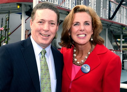 20140820bwCookieSeen02-1 City Controller Michael Lamb and Katie McGinty.