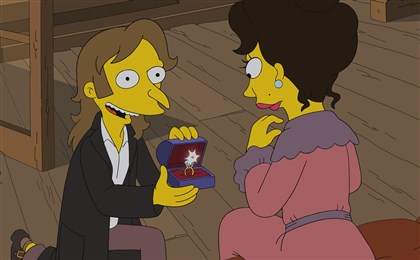 "20140821hispringfield0901AAmag Mr. Burns recalls a romance with a beautiful Parisian woman in the all-new ""Four Regrettings and a Funeral."""