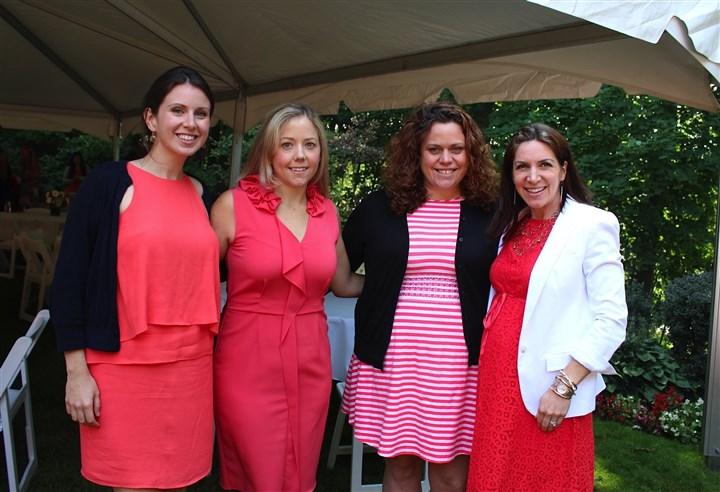 medball-3 From left, Sarah Hanna White, Jan Kubiska, Kelly Hanna Riley and Rebecca Freyvogel Mousseau at the Medallion Ball Picnic.