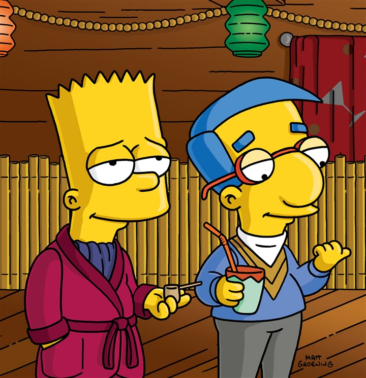 Today's Springfield Moment ... Bart and Milhouse.