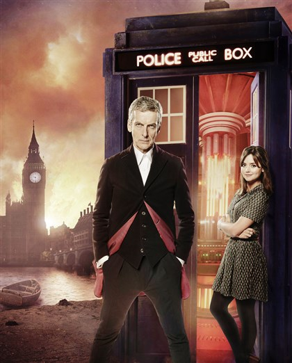"20140823HODrWho Peter Capaldi and Jenna Coleman in ""Doctor Who."""