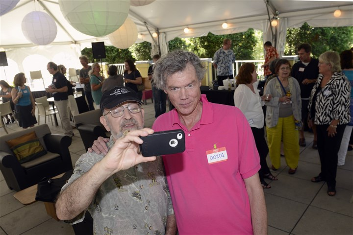 Frank Gottlieb and Charlie Humphrey Frank Gottlieb, left, of Greenfield takes a selfie of himself and Charlie Humphrey, who hosted his second gathering of Facebook friends at the Pittsburgh Center for the Arts, where he is executive director.