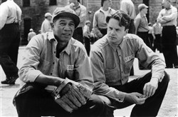 "Morgan Freeman and Tim Robbins star in the movie ""The Shawshank Redemption."""