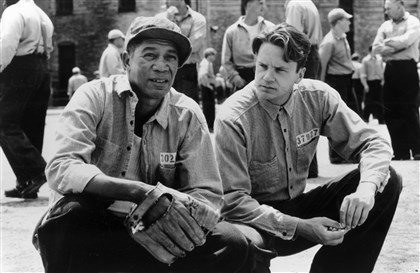 "Morgan Freeman and Tim Robbins  Morgan Freeman and Tim Robbins star in the movie ""The Shawshank Redemption."""