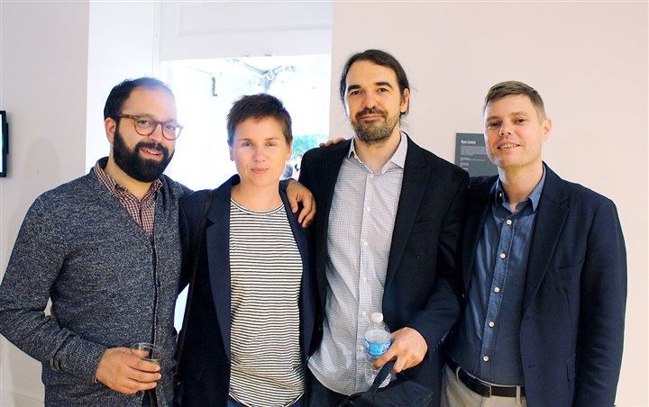 biennial Photo2-1 Dan Byers), Gemma Smith, Adam Welch and Nicholas Chambers at the Pittsburgh Biennial.