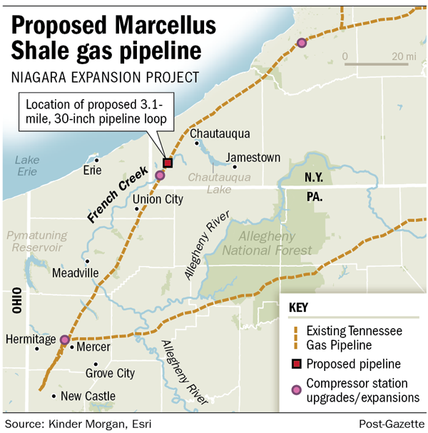Proposed Marcellus Shale gas pipeline