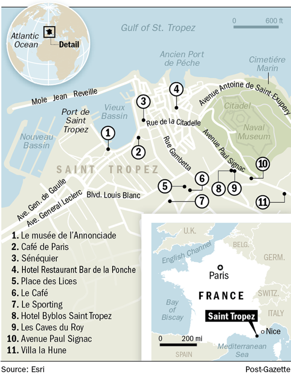 Map: Saint Tropez