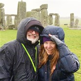 James Patrick and Jolene Dames at Stonehenge.