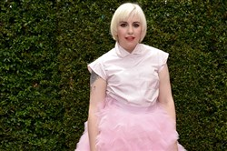 Lena Dunham arrives at the 66th Primetime Emmy Awards on Monday.