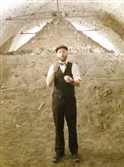 Tour guide John Funcheon inside one of Cincinnati's beer tunnels.