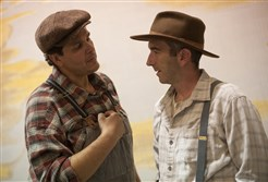 "Leandro Cano and Jarrod DiGiorgi, star in The REP's production, ""Of Mice and Men."""