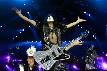 20140824jrKissMag4-3 Paul Stanley an original member of Kiss plays with the band Sunday at First Niagara Pavilion in Burgettstown.