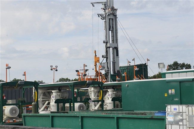 The first well on Pad 2 at Consol Energy's Marcellus shale extraction site at Pittsburgh International Airport in this Aug. 25, 2014 file photo.