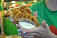 Deep-fried pickles are a classic eat at the Minnesota State Fair.