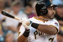 Alvarez hits a solo homer in the second inning against the Cardinals on Aug. 25 at PNC Park.