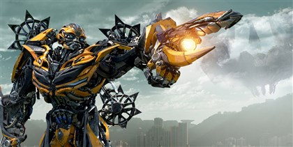 "summermovies04-2 Bumblebee in ""Transformers: Age of Extinction."""